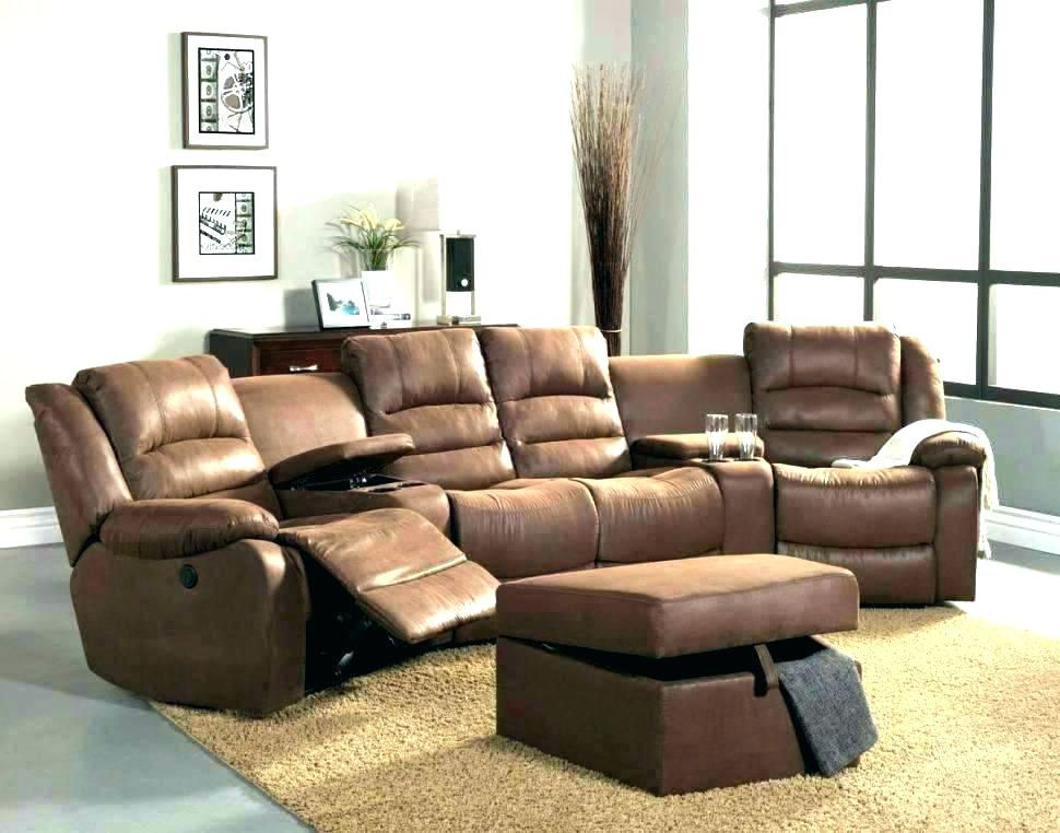 Microfiber Reclining Sofa Sectional Sofa With Recliner Small