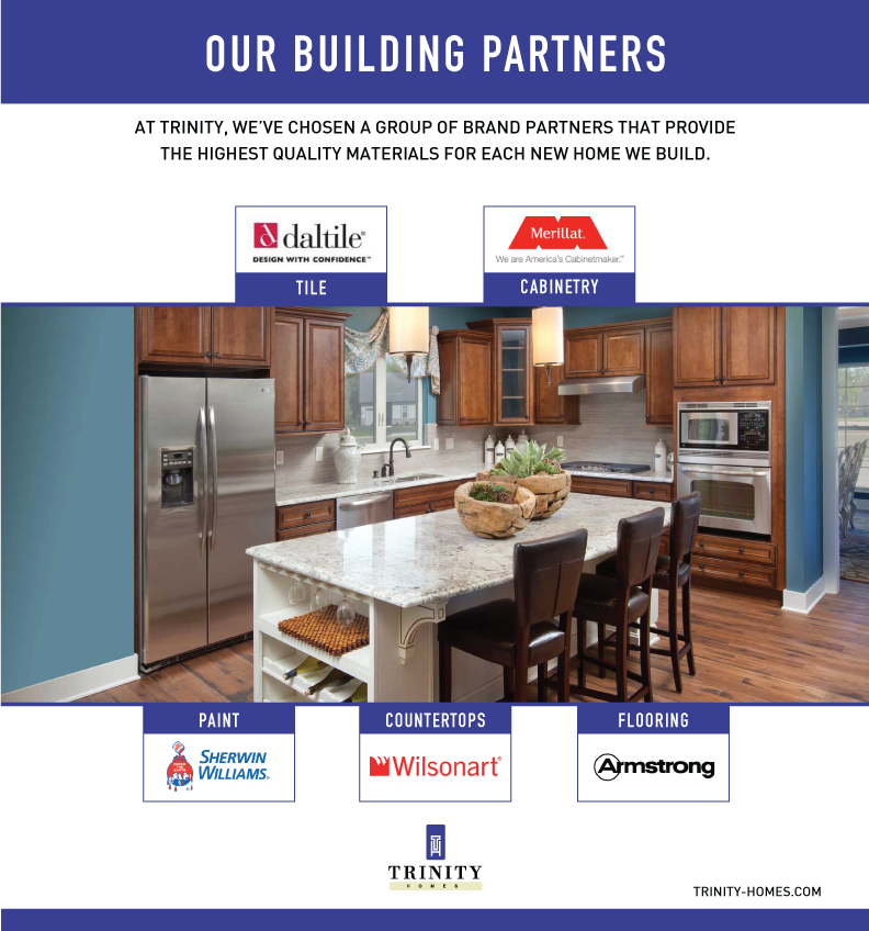 Our Building Partners Interior Exterior With Images Wilsonart Countertops Trinity Homes Interior