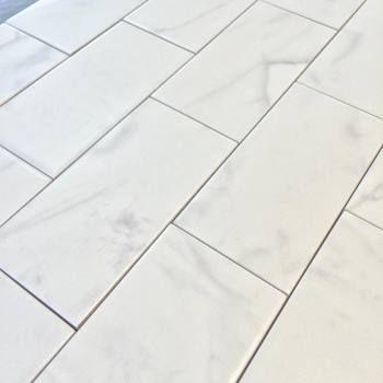 Clic Marble Carrara 3 X 6 Subway Tile Matte Finish High Definition Porcelain 59 Per Square Foot