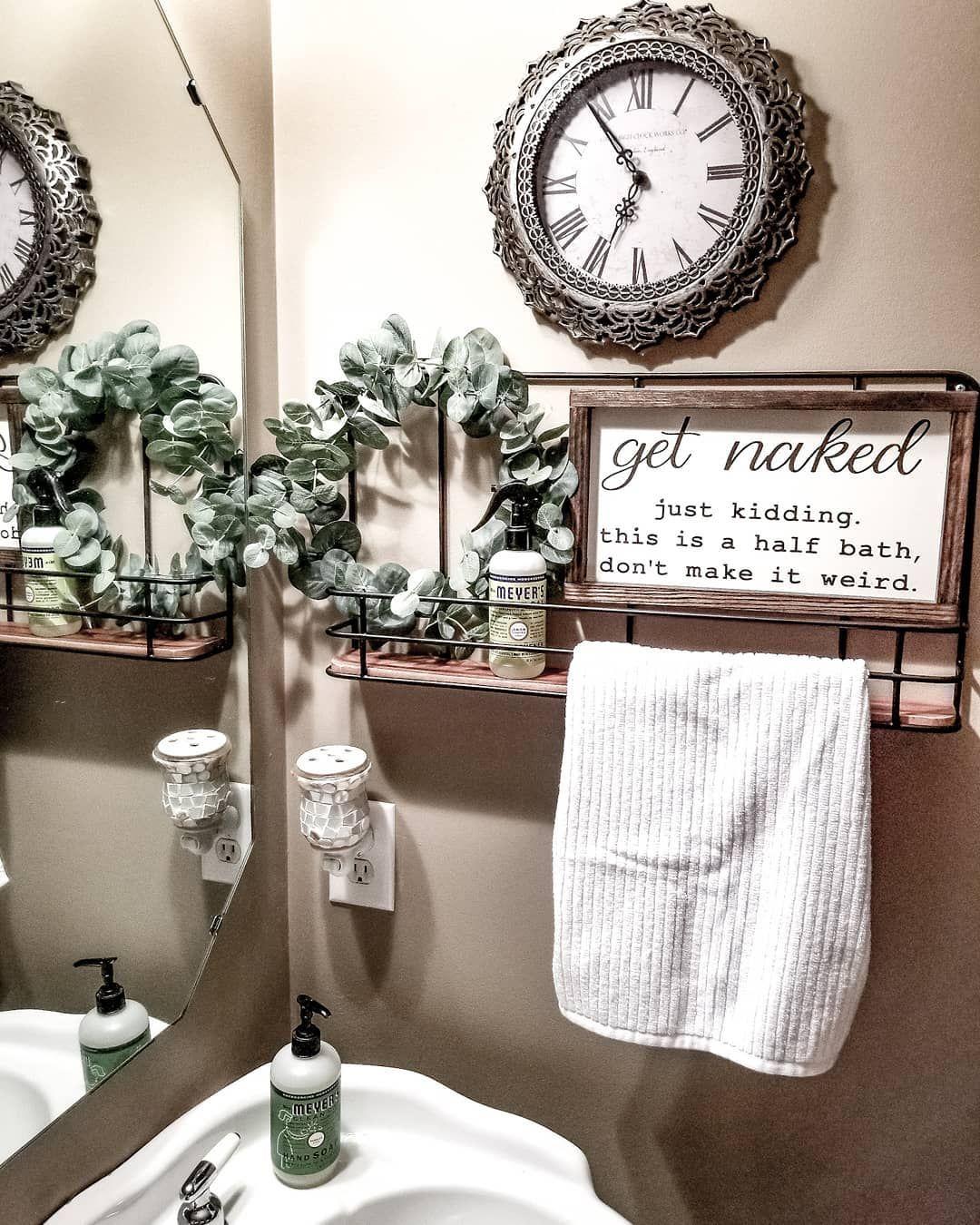 Bathroom decor, farmhouse bathroom, magnolia hearth and hand