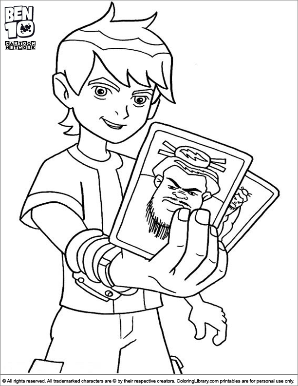 Ben 10 Coloring Page Ben Is Holding Cards Coloring Pages Coloring Pages For Boys Free Printable Coloring Pages