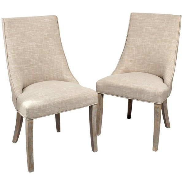 Mia Wright Side Dining Chairs, Set of 2 ($255) ❤ liked on Polyvore