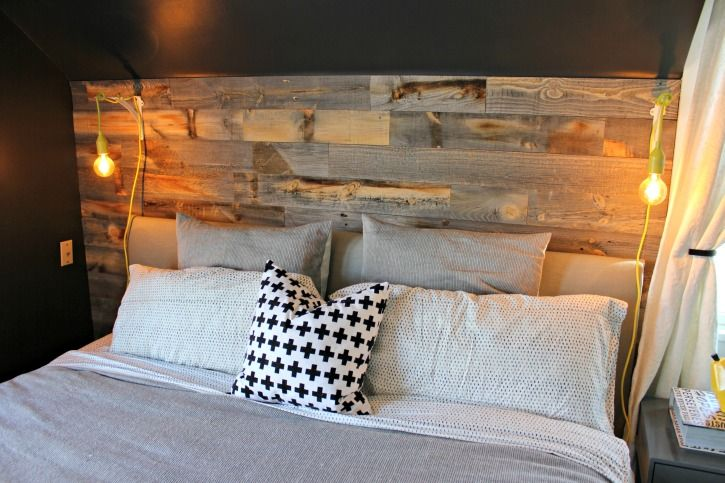 Master Bedroom Reclaimed Wood Accent Wall Living