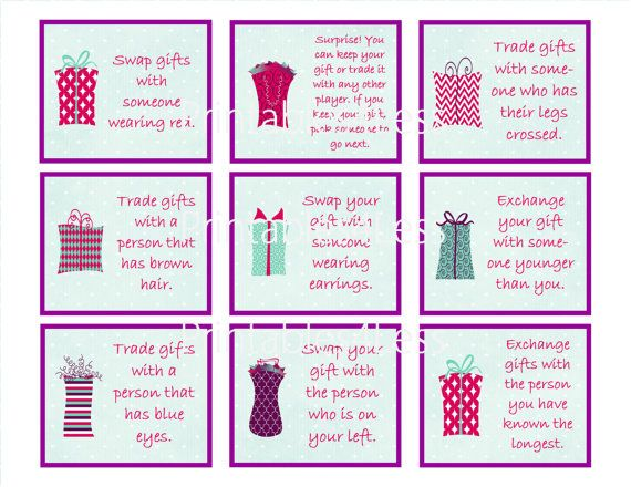 If youre planning a party and need a holiday gift game idea, I have a fun  party gift exchange game for you to consider. This game will not only  prolong the ... - Fun Christmas Gift Game, Games For Gift Exchange, Gift Exchange