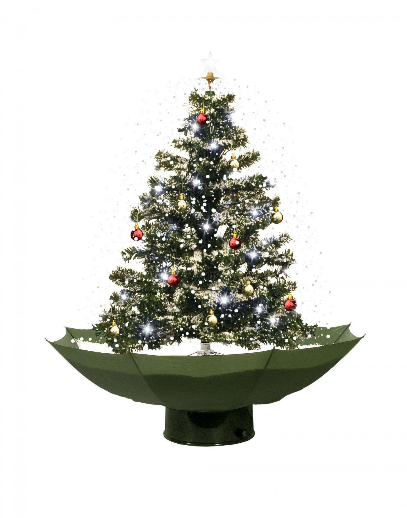snowing green christmas tree 75cm snowing christmas trees domes christmas trees decorations - Snowing Christmas Decoration