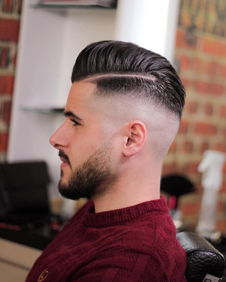 Razor Side Part Slick Back Haircut Fade In Pinterest Mens