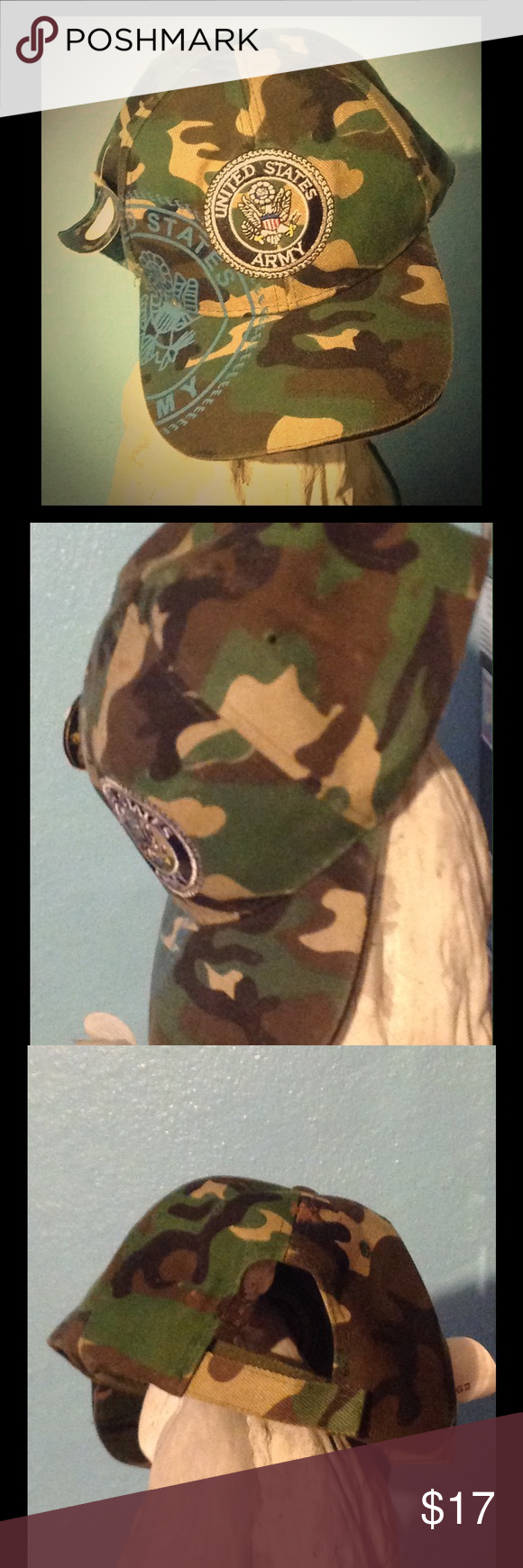 Camo army designer hat cap Camouflage, u.s. Army symbol with designs. Adjustable new cap Other