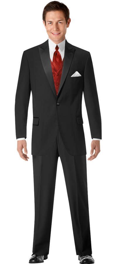 I just created the perfect tuxedo look with Build A Tux from Men's Wearhouse! #MWTuxedo | Calvin Klein One-Button Super 100's Peak Lapel (1865)