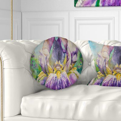 East Urban Home Floral Iris Flower Close Up Throw Pillow Size 16 X 16 Throw Pillows Pillows Chevron Pillows