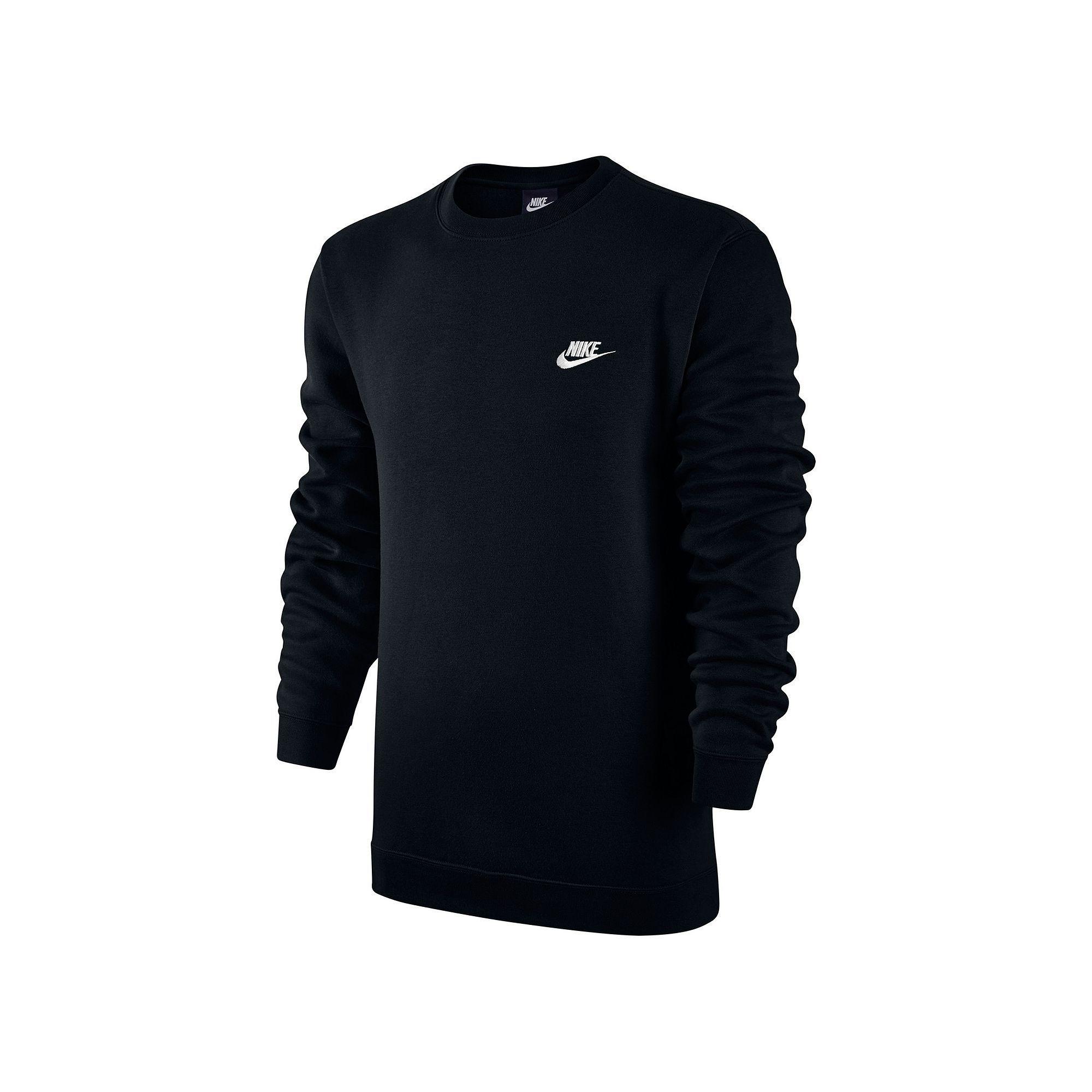 Men's Nike Club Crew Fleece, Size: Medium, Grey (Charcoal)