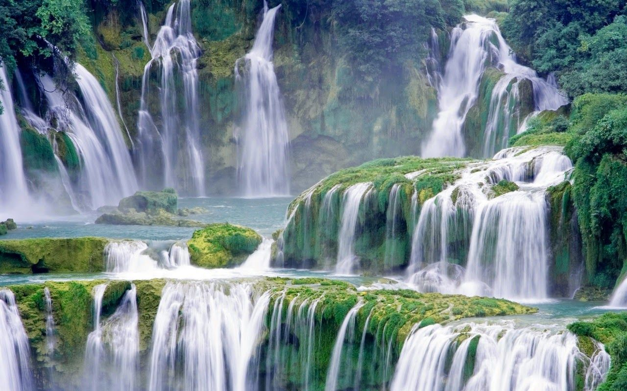Wallpaper Air Terjun Bergerak Untuk Android 63 Pictures In 2020 Waterfall Landscape Waterfall Pictures