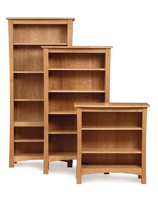 Berkeley Cherry Wood Bookcases Customize Online In 3 Sizes And Your Choice Of Wood Shown In Natural C Copeland Furniture Wood Bookcase Home Office Furniture