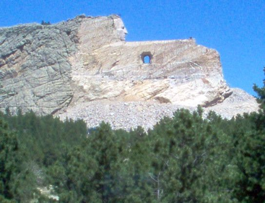 Crazy Horse.  I was so impressed with Crazy Horse because it was being sculpted while I watched.