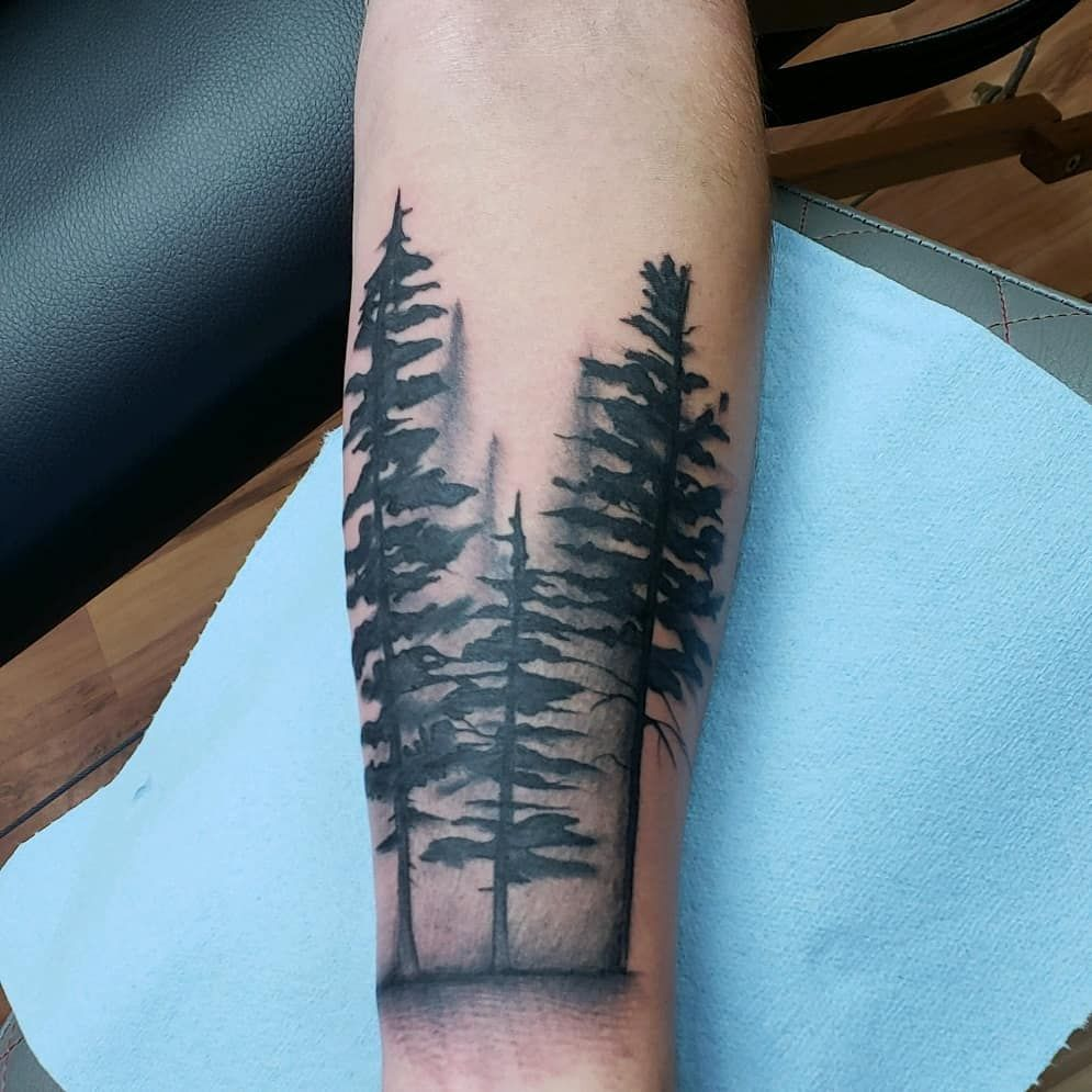 a229e26459bbc Simple and Easy Pine Tree Tattoo – Designs & Meanings (2019) tattoos for