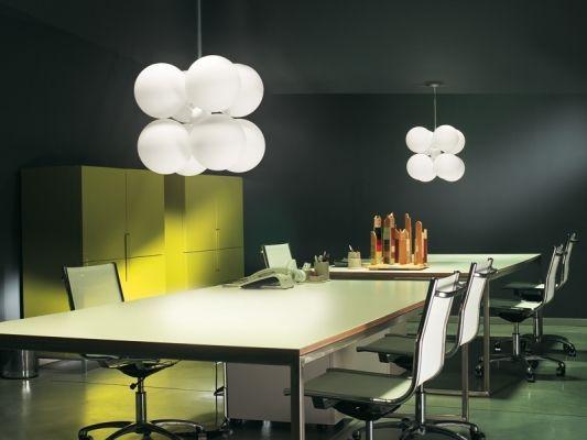 Plafoniera design originale / in vetro / in vetro soffiato / fluorescente compatta LUCENTE DESIGN : BANALE by Giandomenico Belotti  LUCENTE