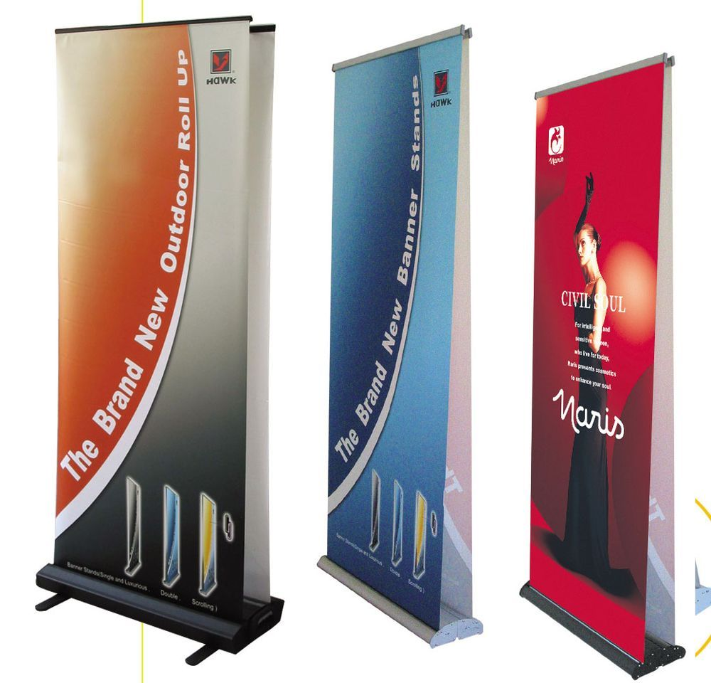 Expo Banner Stands : Banner stands are ideal for trade show displays