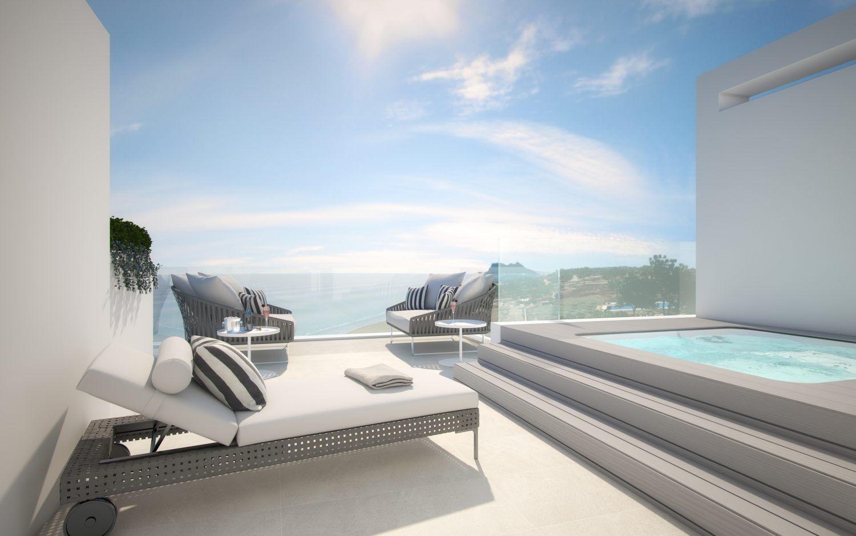 Luxus Haus direkt am Meer Estepona Costa del Sol Insgesamt