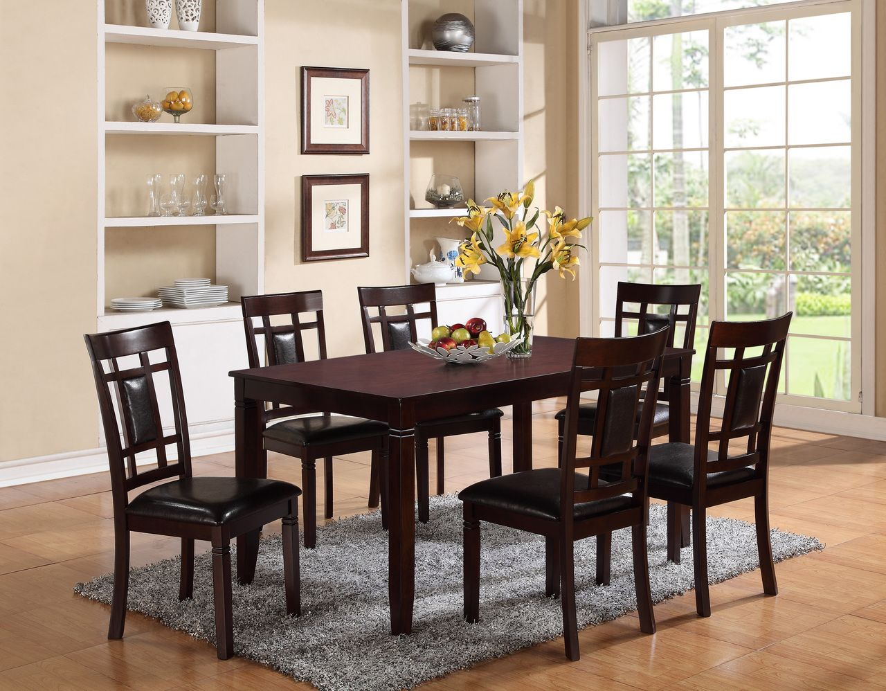Paige 7 Pk Dining Room Table Set Just 355 00 With Space Enough For Six People Pul Formal Dining Room Sets Dining Room Renovation Rectangular Dining Table