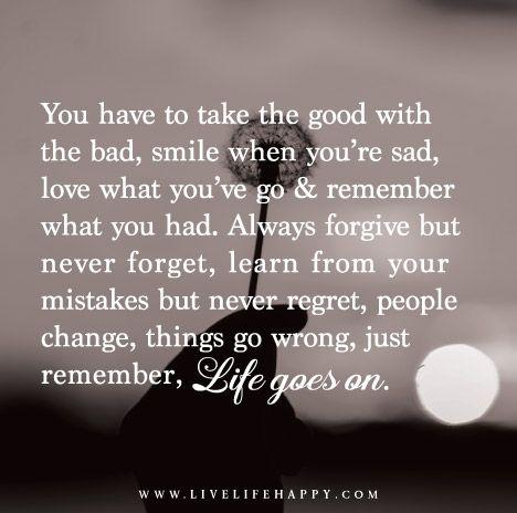 sad but good quotes