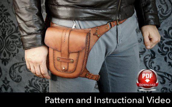 Hip Bag Bag Hip Bag Travel Bag Leather Leather Leather Leather Holster Bag Leather Hip Pouch  Handmade  Unisex