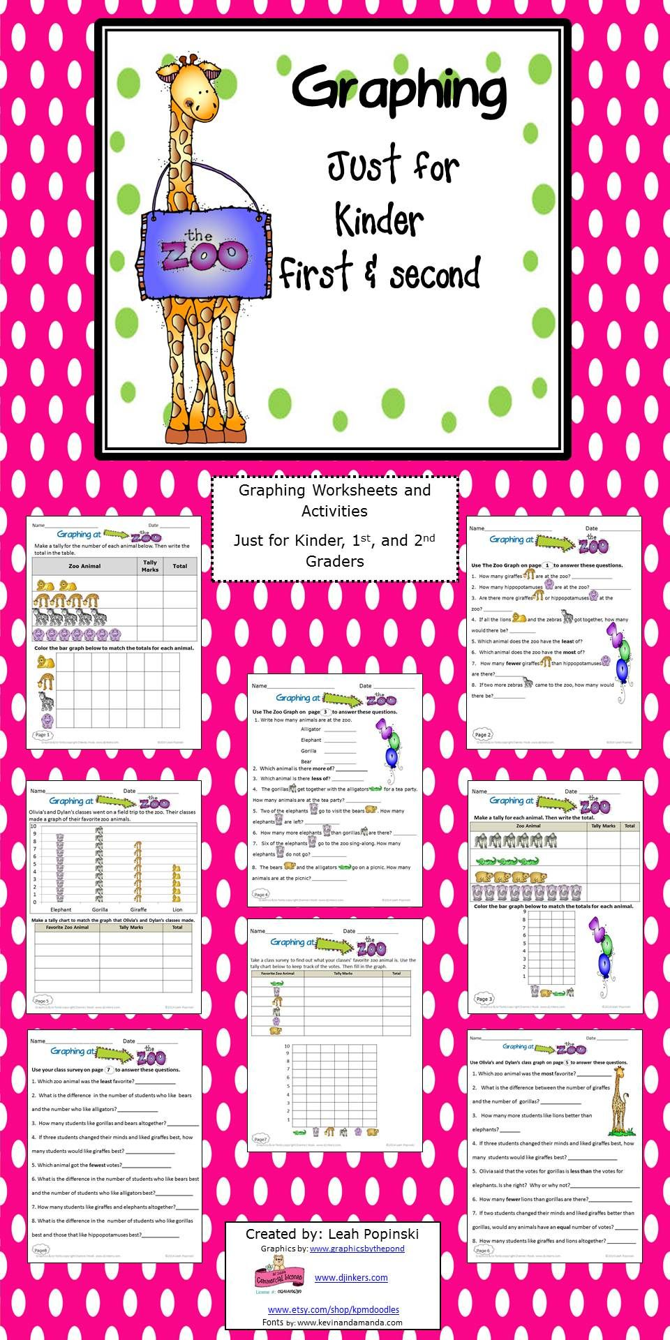 Activities And Worksheets To Strengthen And Practice Graphing Skills With A Fun Zoo Theme Adorable Graphics Graphing Activities Math Activities Math Classroom [ 1920 x 960 Pixel ]