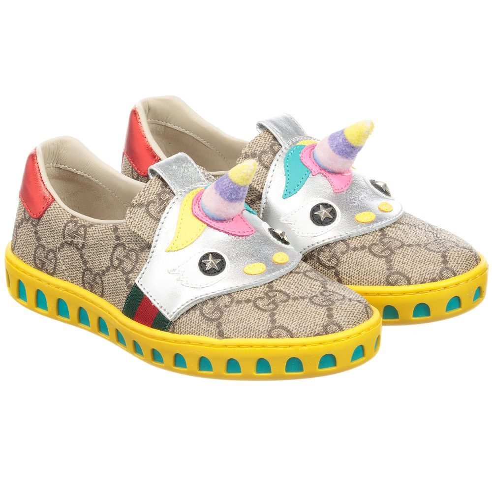786aea93480 Beige GG Unicorn Shoes for Girl by Gucci.