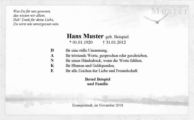 Trauer Danksagungskarte Vogel Am Fluss Danke Danksagung Text Danke Sagen Trostende Worte