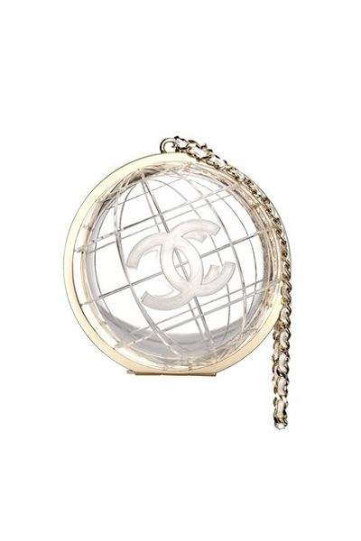 0cfdcf064a09 Chanel FW13 transparent plexiglass globe bag. Perfect for the modern bride
