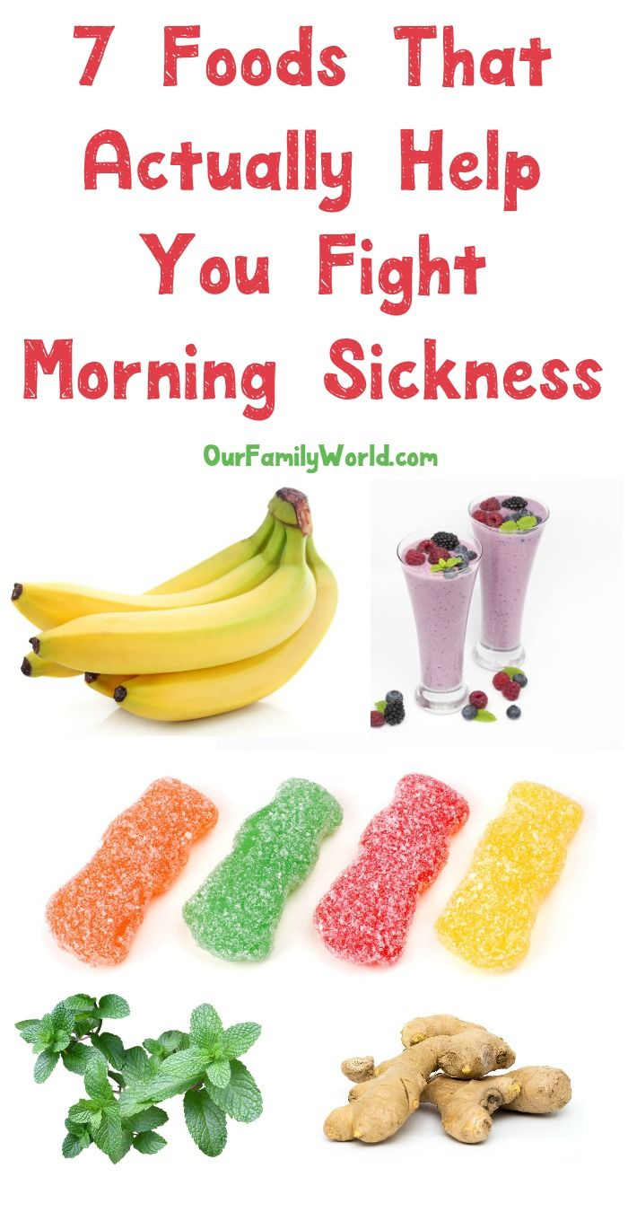 7 foods to try that actually help fight off morning sickness