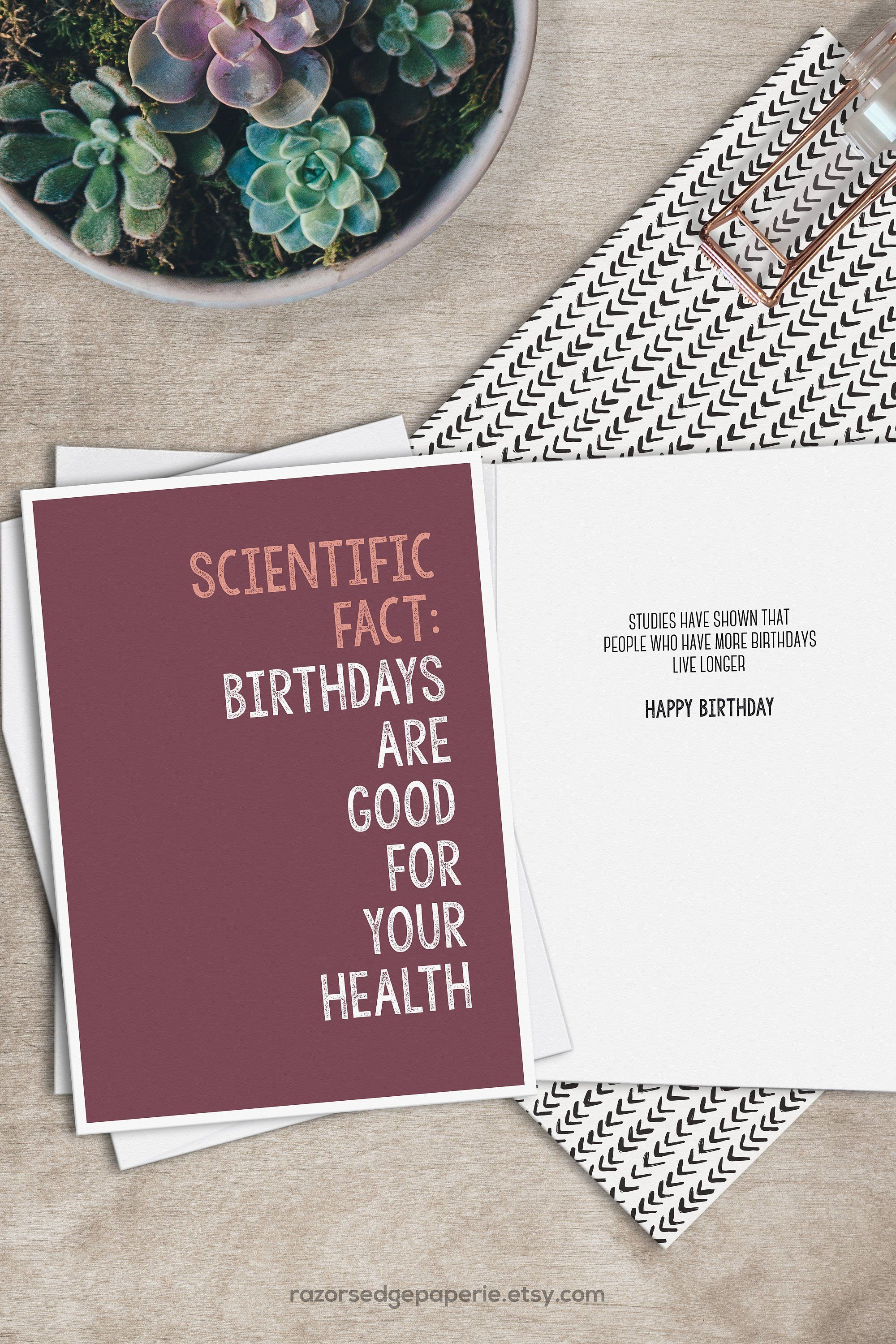 PRINTABLE Funny Birthday Card INSTANT DOWNLOAD With FREE Envelope Template Get 10
