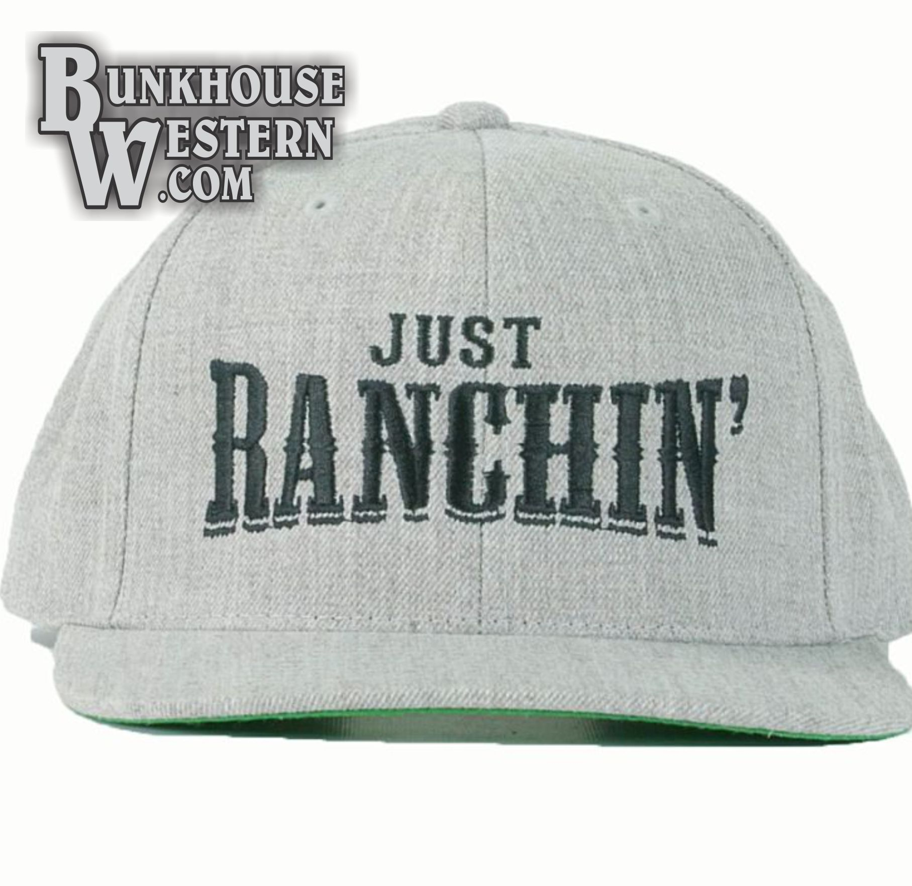 wholesale dealer 90580 78b9f Dale Brisby, Just Ranchin , Gray, Snapback Cap,  31.98