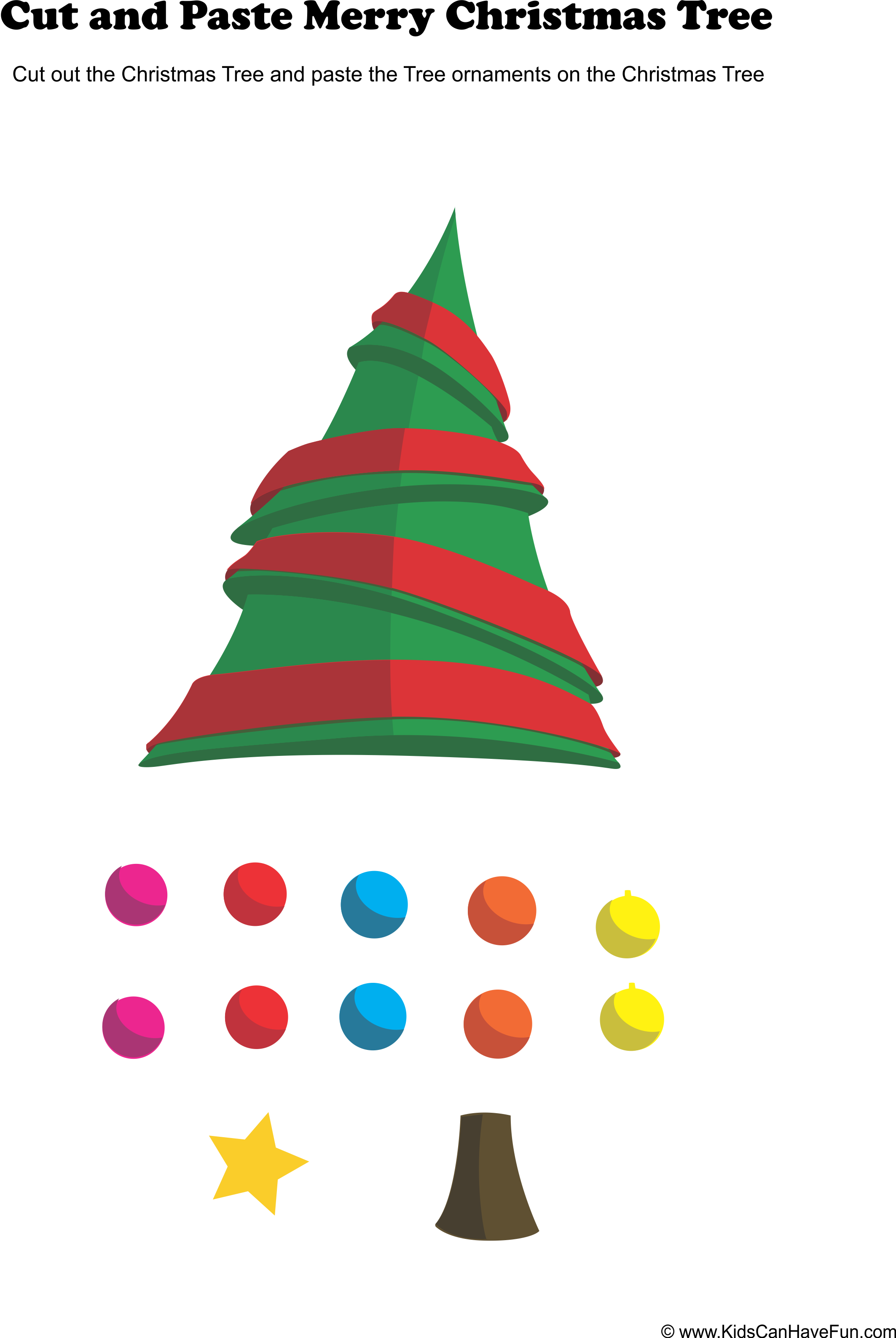 Cut And Paste Christmas Tree Activity