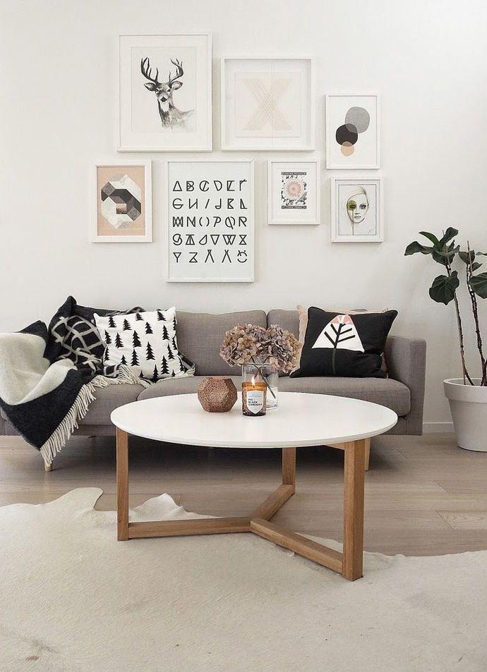 Un mur galerie pour habiller son coin canapé | gallery ✽ walls ...