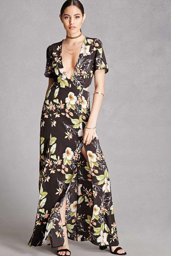 Forever 21 Nightwalker Floral Maxi Dress Floral Print Fashion