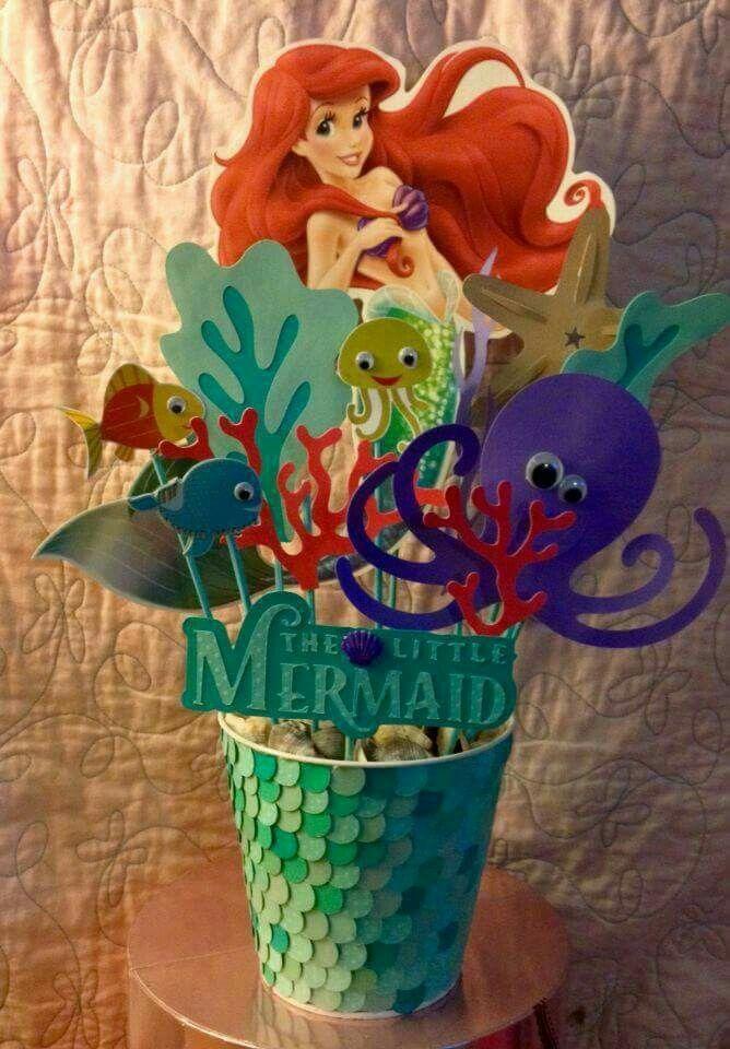pin de mariah en manualidades para fiesta mermaid party decorations diy mermaid birthday. Black Bedroom Furniture Sets. Home Design Ideas