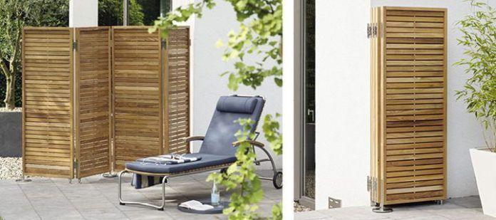 Separadores para exteriores 1 biombo moderno de madera screens pinterest - Decoracion con biombos ...
