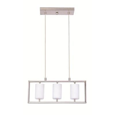 Eglo JUBA Suspension 3L Matte Nickel Finish Opal Frosted Glass