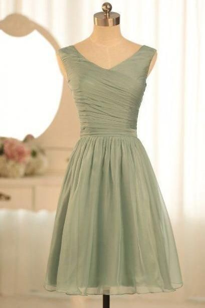 Chiffon Bridesmaid Dresses,Short Bridesmaid Gown,Summer Bridesmaid Gowns,Beach Bridesmaid Dress,Cheap Bridesmaid Gown,Fall Bridesmaid Dress For Modest Brides