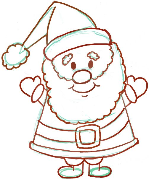 Easy Instructions For How To Draw Santa Clause For Kids Hollie S