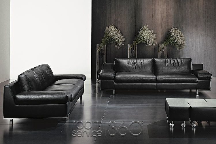 Parana Modern Italian Leather Sofa and Loveseat by Polaris | Sofas ...