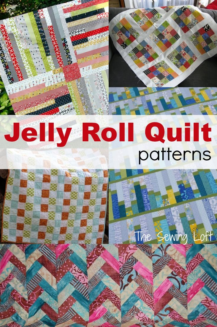 Free Quilt Patterns Using Jelly Rolls : quilt, patterns, using, jelly, rolls, Jelly, Quilt, Ideas, Sewing, Jellyroll, Quilts,, Patterns