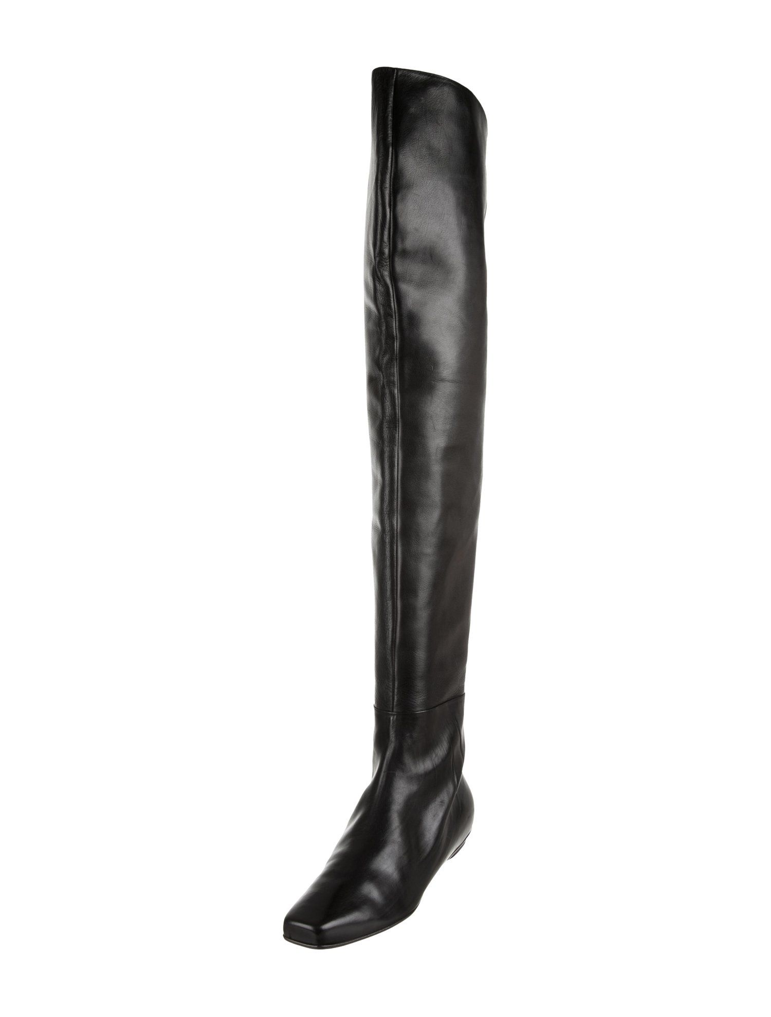 646e3bedf1b Calvin Klein Collection Leather Thigh-High Boots  Collection  Klein  Calvin