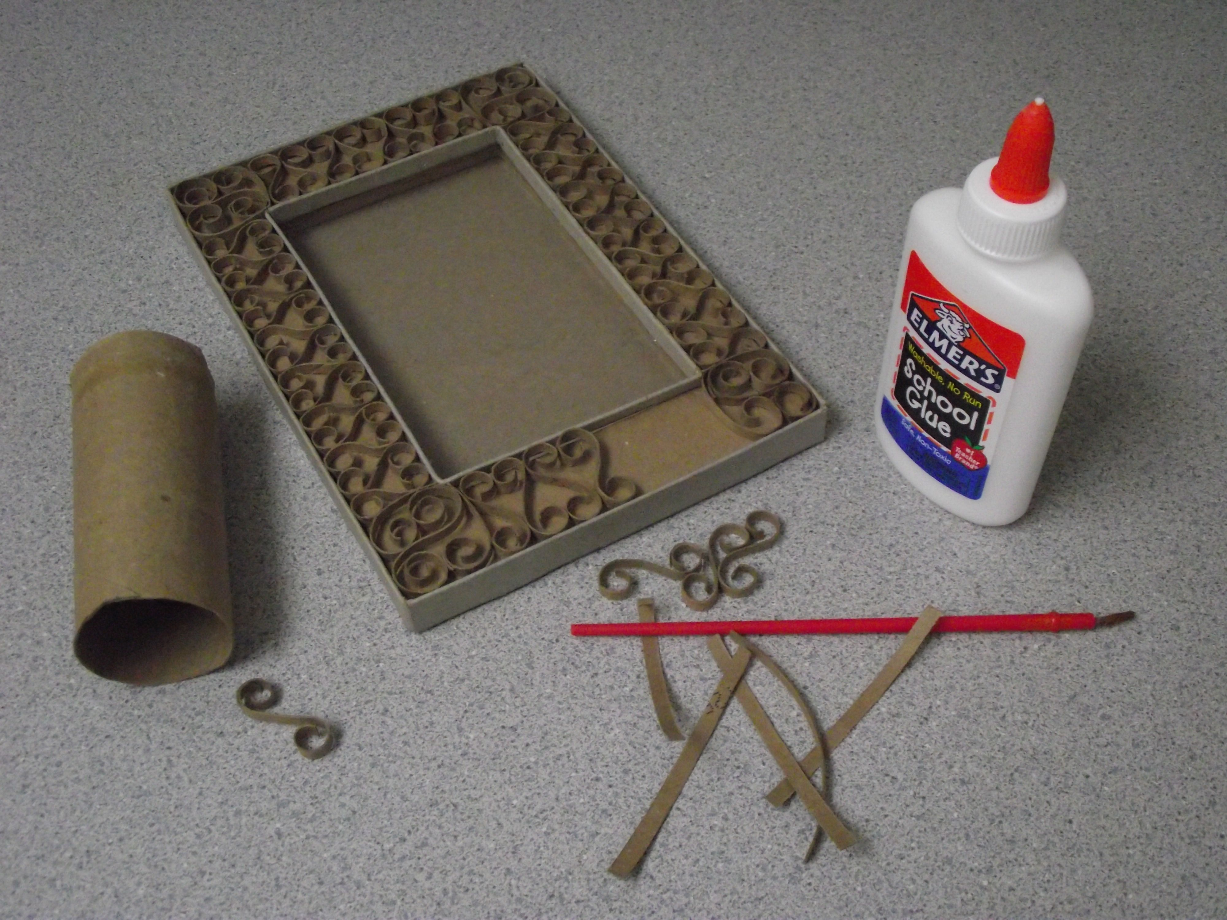 "CARDBOARD ""WROUGHT IRON"" FRAME 