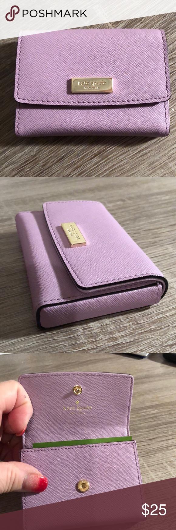 kate spade business card holder purple wlru2668  kate