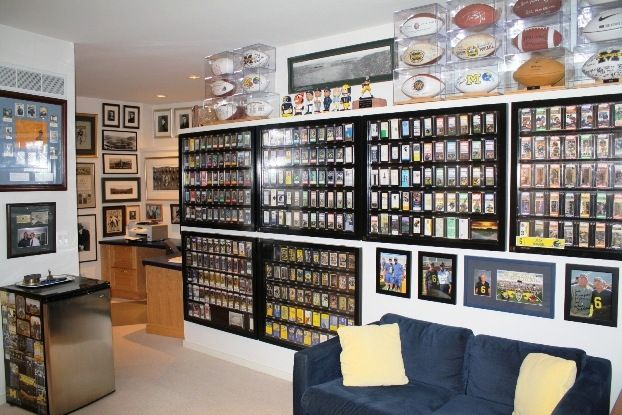 Pin By Michael Padilla On Things I Collect Man Cave Home Bar Sports Memorabilia Room Sports Man Cave