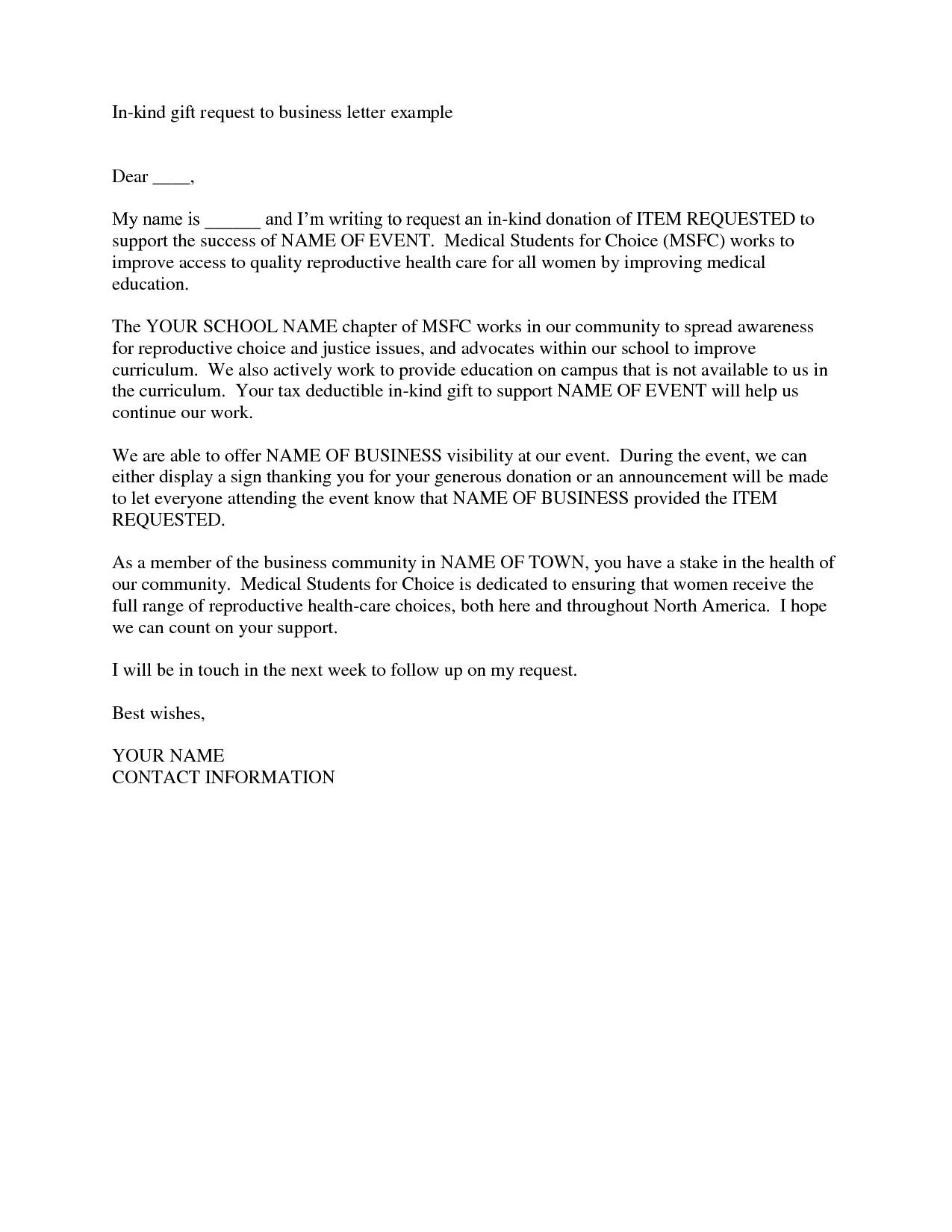Request for Donations Letter in 2020 Donation letter