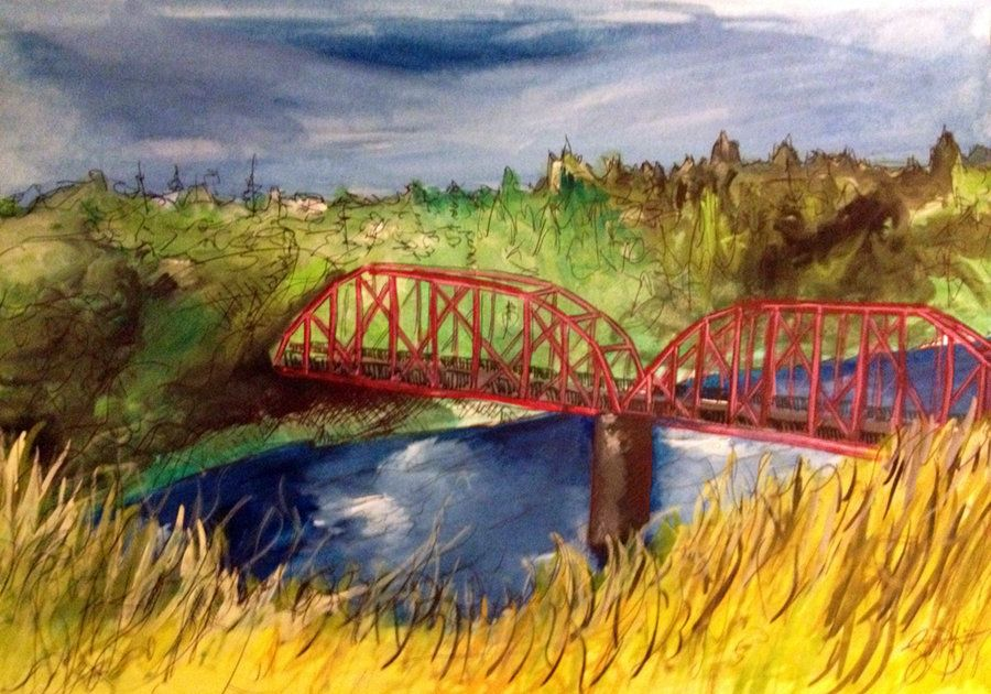 Red Bridge by IcyDuff Bridge, Red, Garden bridge