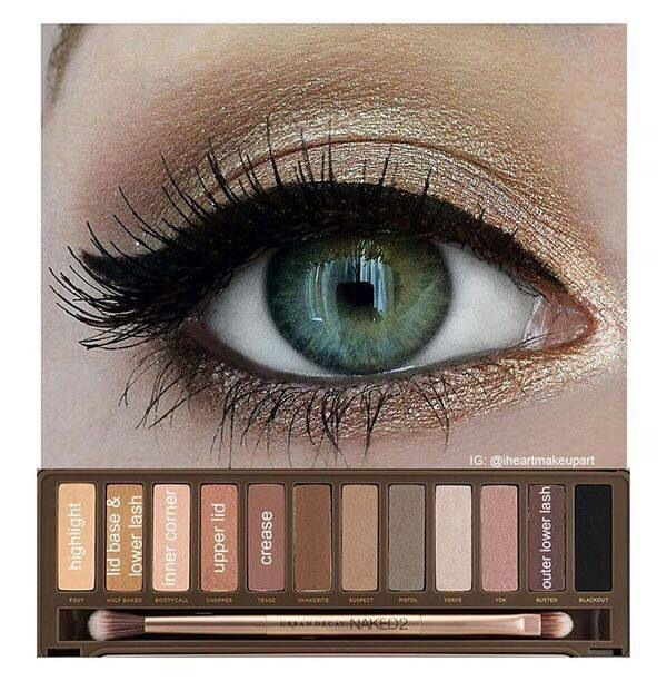 Image result for step by step on urban decay palette looks