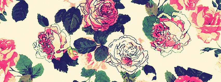 Floral Facebook Covers: Simple Flower Painting Facebook Cover Photo