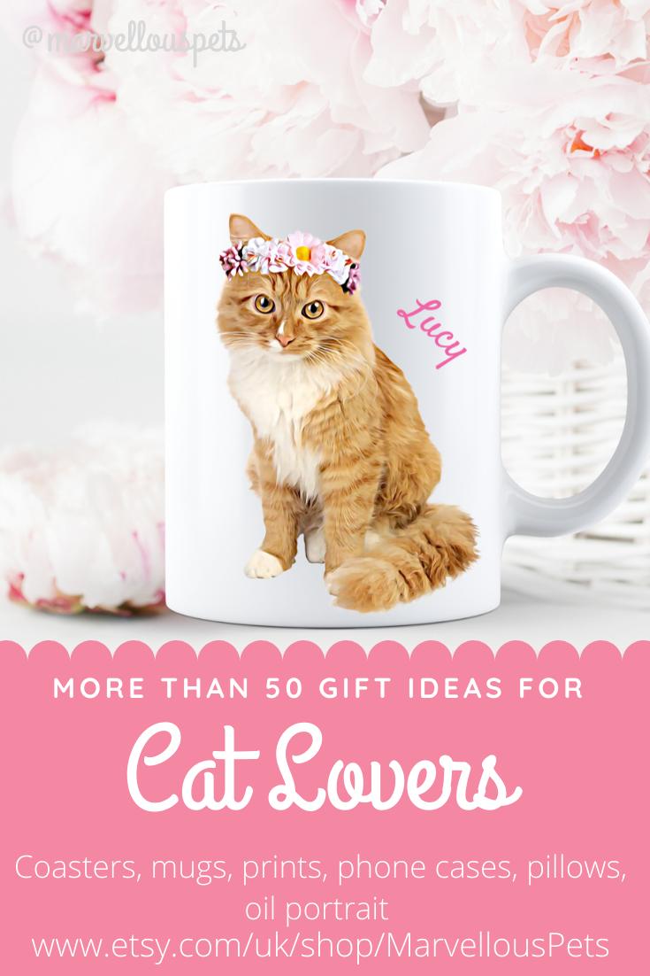 Personalized Cat Mug Cat Mom Gift Pet Coffee Mug Portrait From Photo Cat Illustration Custom Pet Portraits Dog Print Art Dog Lover Gifts